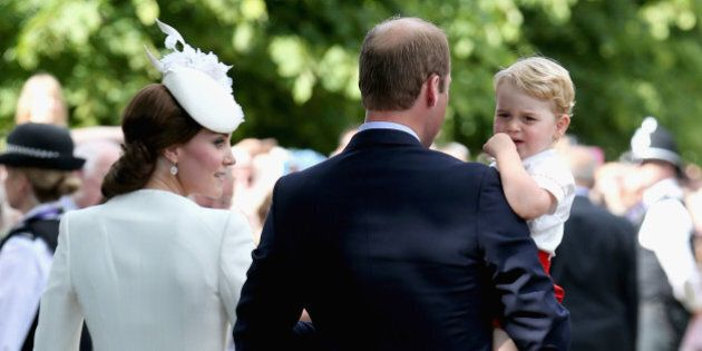KING'S LYNN, ENGLAND - JULY 05: Catherine, Duchess of Cambridge, Prince William, Duke of Cambridge, Princess...