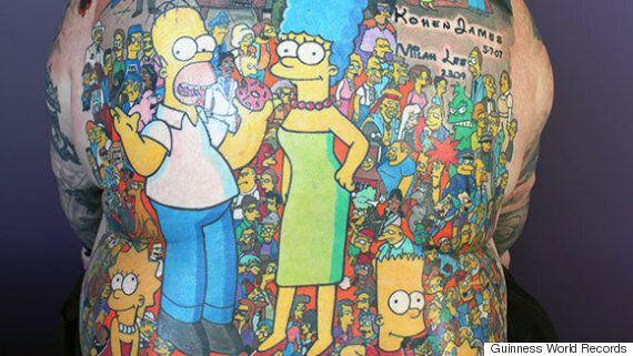 Ses 203 tatouages des «Simpsons» lui valent un record Guinness