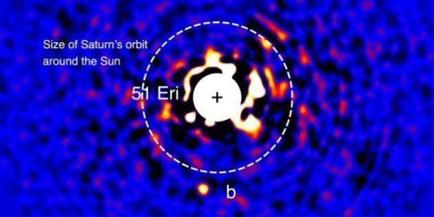 EXCLUSIF- Une première historique: l'image de la planète 51 Eridani B