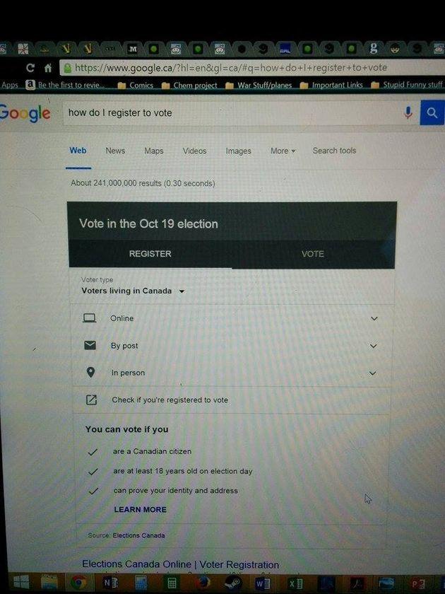 Google veut inciter les Canadiens à se rendre aux urnes en