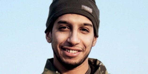 An undated photograph of a man described as Abdelhamid Abaaoud that was published in the Islamic State's...