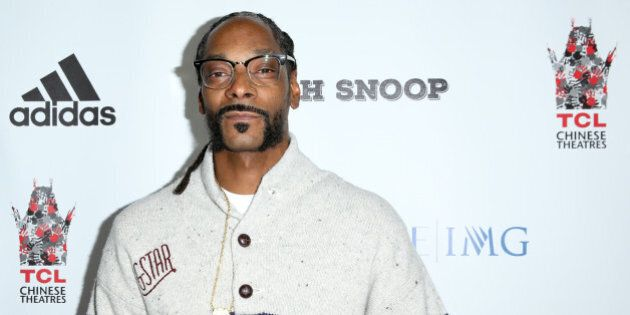 Snoop Dogg arrives at the LA Premiere