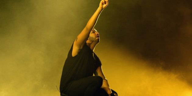 INDIO, CA - APRIL 12: Rapper Drake performs onstage during day 3 of the 2015 Coachella Valley Music &...