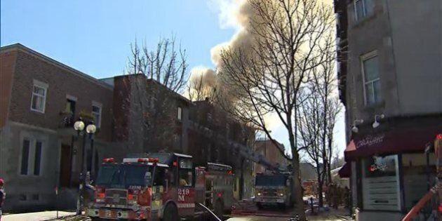 Incendie majeur sur le Plateau-Mont-Royal, 125 pompiers sur