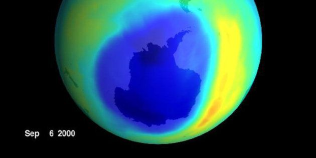 The largest ozone hole ever seen has opened up over Antartica, a sign that ozone-depleting gases churned...