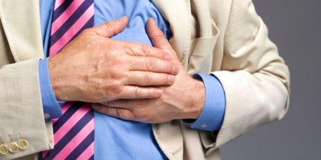 Senior man having a stroke/heart