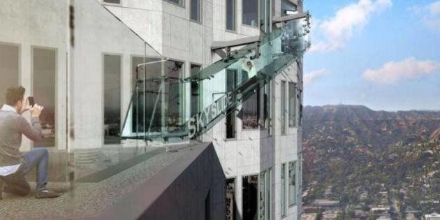 Skyslide, une attraction terrifiante pour voir Los Angeles du haut des