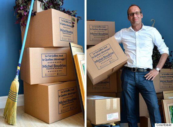 Déménagement : Michel Boudrias, député de Terrebonne, offre des boîtes gratuites jusqu'au 1er