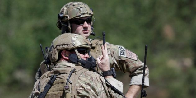 U.S. army soldiers take part in