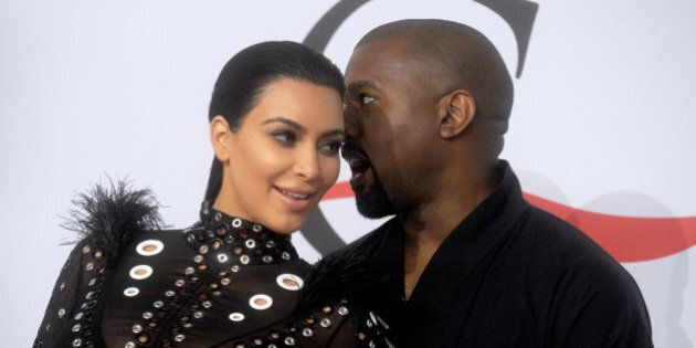 File : Kanye West and Kim Kardashian attend the 2015 CFDA Awards at Alice Tully Hall at Lincoln Center...