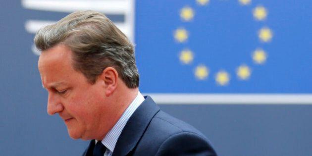 Britain's Prime Minister David Cameron arrives at the EU Summit in Brussels, Belgium, June 28, 2016....