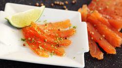 Gravlax de saumon à la coriandre et zeste de lime signé Max