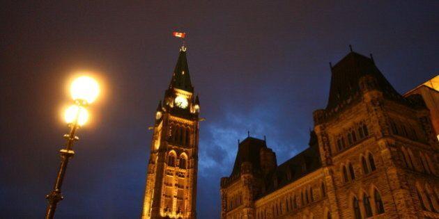 Ottawa Parliament night