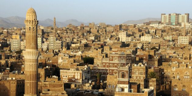A view of the city of Sana'a, the Yemeni capital. The old city is famous for it's distinct ancient architecture...