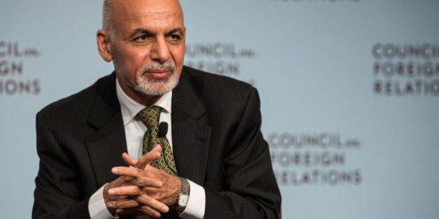 NEW YORK, NY - MARCH 26: Ashraf Ghani, President of Afghanistan, speaks at the Council On Foreign Relations...