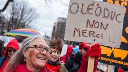 La manifestation pour le climat à Québec en