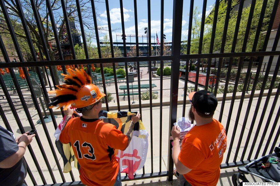 Baltimore : Voici de quoi a l'air un match de baseball professionnel devant zéro spectateur