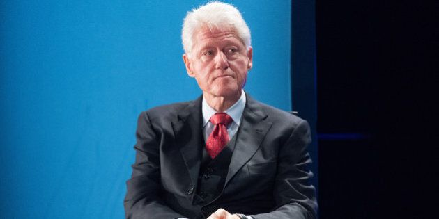 INDIAN WELLS, CA - JANUARY 26: Former President Bill Clinton speaks onstage during the Closing Plenary...