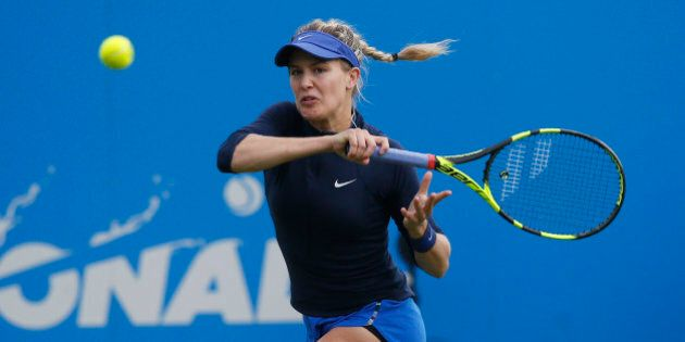 Britain Tennis - Aegon International - Devonshire Park, Eastbourne - 20/6/16Canada's Eugenie Bouchard in action during the first roundAction Images via Reuters / Peter CziborraLivepicEDITORIAL USE ONLY.