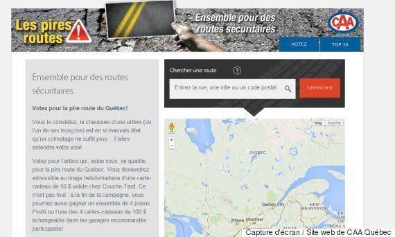 #PiresRoutes : CAA Québec veut établir le top 10 des routes les plus mal en point de la