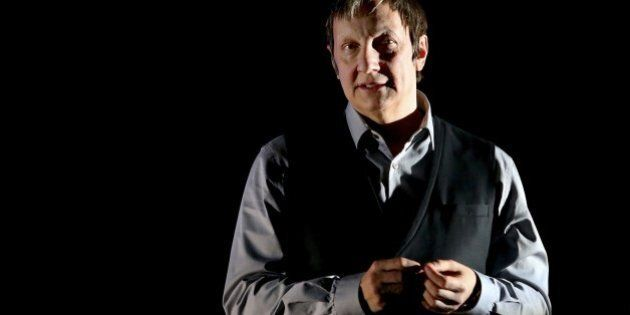 Quebec director Robert Lepage is seen on stage on March 8, 2015 at the Comet Chalons-en-Champagne during...