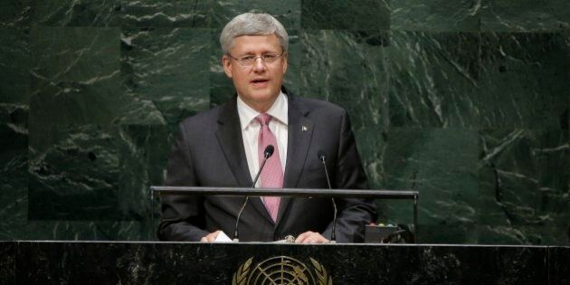 Canadian Prime Minister Stephen Harper addresses the 69th session of the United Nations General Assembly...