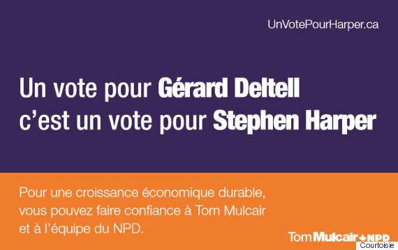 Le NPD s'attaque aux candidats vedettes conservateurs Gérard Deltell et Alain