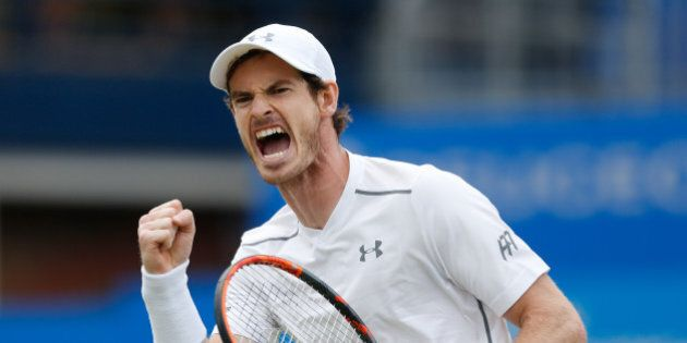 Great Britain's Andy Murray reacts during the final of the 2016 AEGON Championships at The Queen's Club, London.