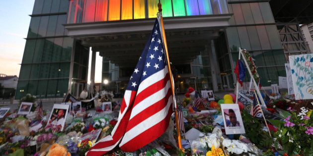 A makeshift memorial to victims of the Pulse nightclub shooting continues to grow in front of the Dr....