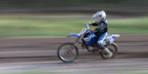 Person riding motocross