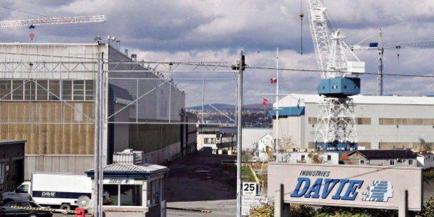 Mises à pied au Chantier naval Davie: la CSN demande à Québec
