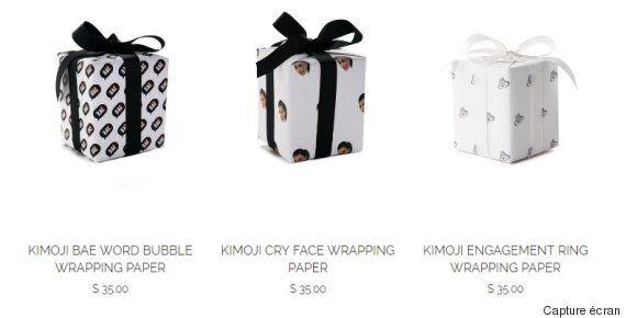 Kim Kardashian vend maintenant du papier cadeau à l'effigie de ses