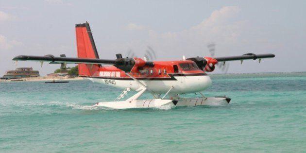 Sea plane in the Maldives, Reethi Rah, Maldives. (Photo by: Godong/UIG via Getty