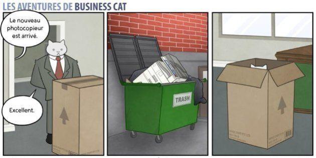 Business Cat: la bande dessinée qui raconte les aventures d'un patron