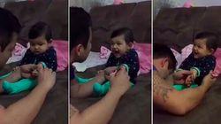 Couper les ongles de ce bébé a viré au fou rire