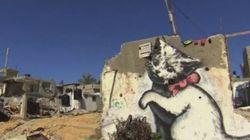 Le chat de Banksy attire les regards vers