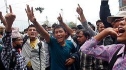 Colère au Népal: la police anti-émeute