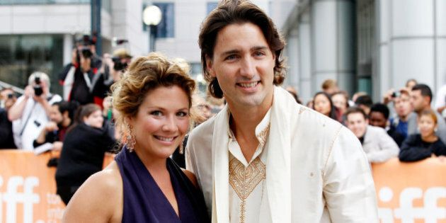 TORONTO, ON - SEPTEMBER 09:  Sophie Gregoire and Justin Trudeau arrive at the 'Midnight's Children' Premiere at the 2012 Toronto International Film Festival at Roy Thomson Hall on September 9, 2012 in Toronto, Canada.  (Photo by Jemal Countess/Getty Images)