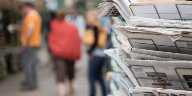 Newspaper rack on