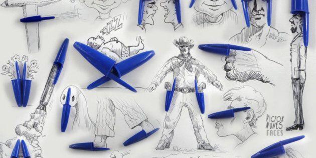 Cet artiste utilise des objets du quotidien pour en faire des illustrations