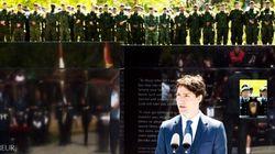 Trudeau dévoile un nouveau monument commémoratif de guerre à Borden