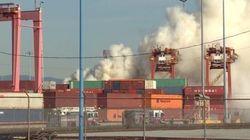 Incendie de produits chimiques au port de