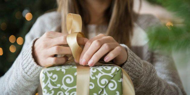 Woman preparing christmas