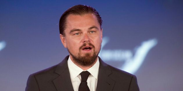 Actor Leonardo DiCaprio speaks at the second day of the State Department's 'Our Ocean' conference at...
