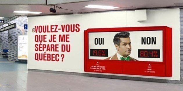 «Voulez-vous que je me sépare du Québec?» : l'ingénieuse publicité de Sugar Sammy à la station