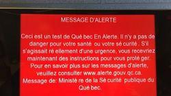 Test du système «Québec En Alerte» à 9 h 55 ce