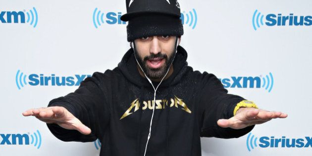 NEW YORK, NY - MARCH 05: (EXCLUSIVE COVERAGE) Recording artist Roosh Williams visits the SiriusXM Studios...