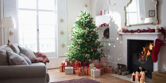 Christmas tree surrounded with