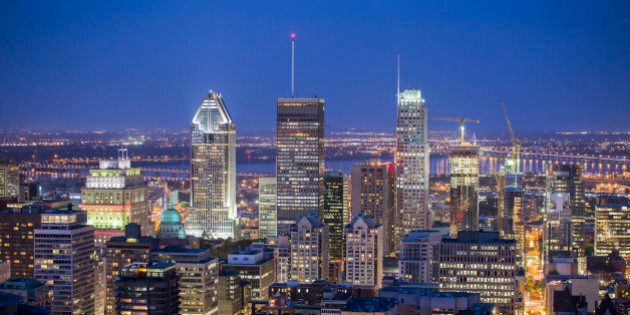 Montreal downtown at