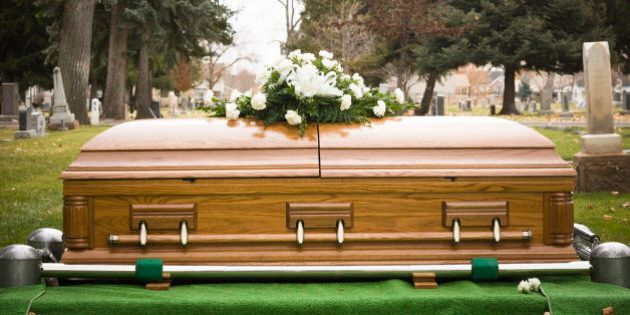 coffin at a